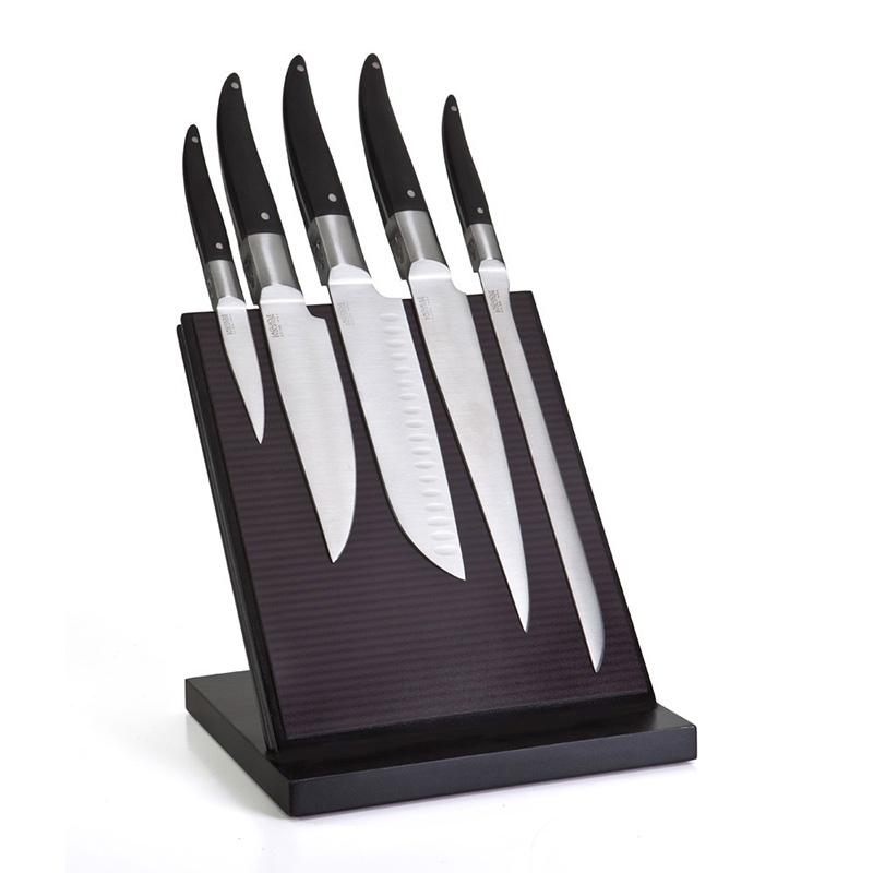 bloc 5 couteaux de cuisine laguiole evolution forg. Black Bedroom Furniture Sets. Home Design Ideas