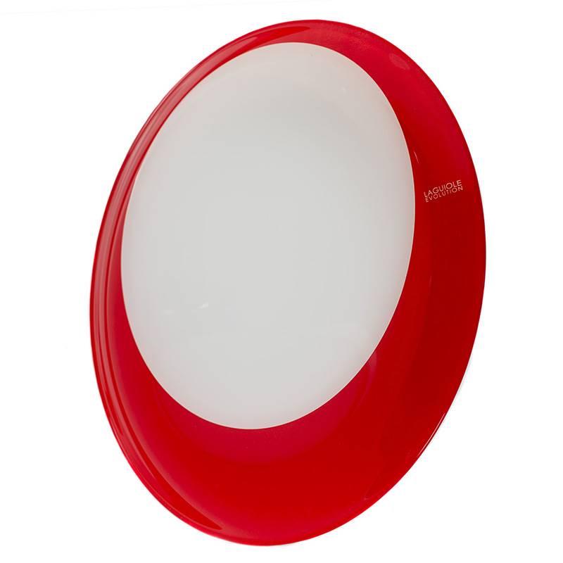 assiettes plates en verre rouge vaisselle laguiole evolution. Black Bedroom Furniture Sets. Home Design Ideas